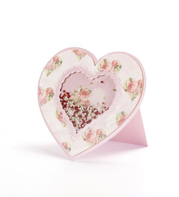 Handmade greeting card Loving heart – photo #3