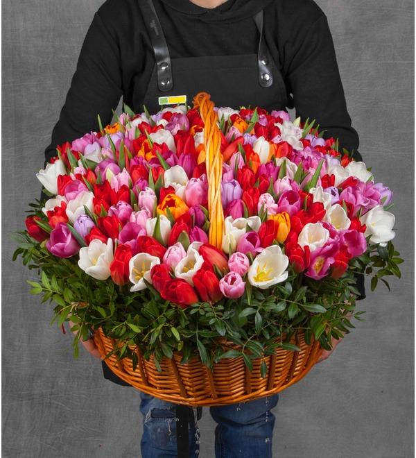 Композиция из тюльпанов Драгоценная моя... (51, 101 или 201) – фото № 1