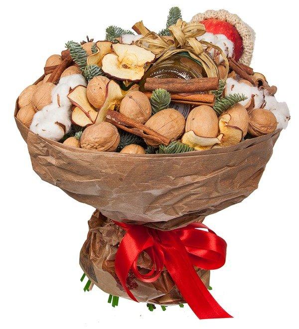 Букет из орехов, сухофруктов и мёда Зимнее чаепитие – фото № 4