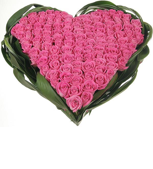 Композиция из роз Яркая любовь – фото № 4