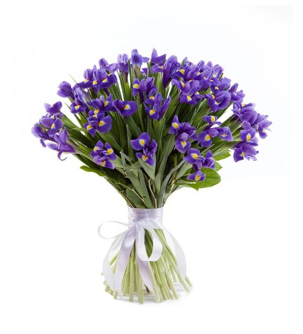 Bouquet of irises Blue Magic (51 or 101 of the iris) – photo #1