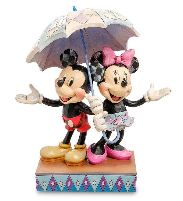 Figurine Mickey and Minnie with an umbrella. Romance in the Rain (Disney) – photo #1