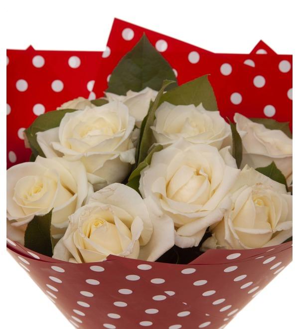 Букет-соло белых роз (9,15,25,35,51,75 или 101) – фото № 3