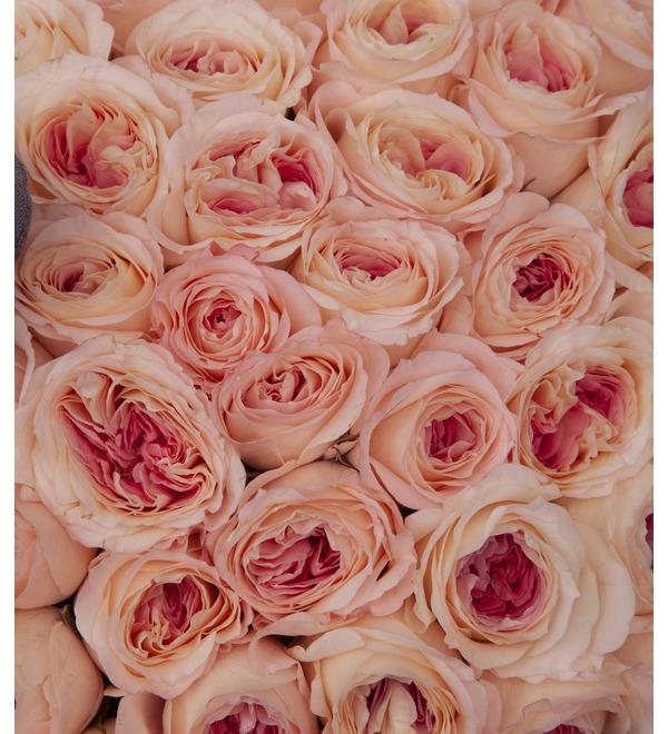 Букет-соло пионовидных роз Два сердца (35,51,75,101 или 151) – фото № 3