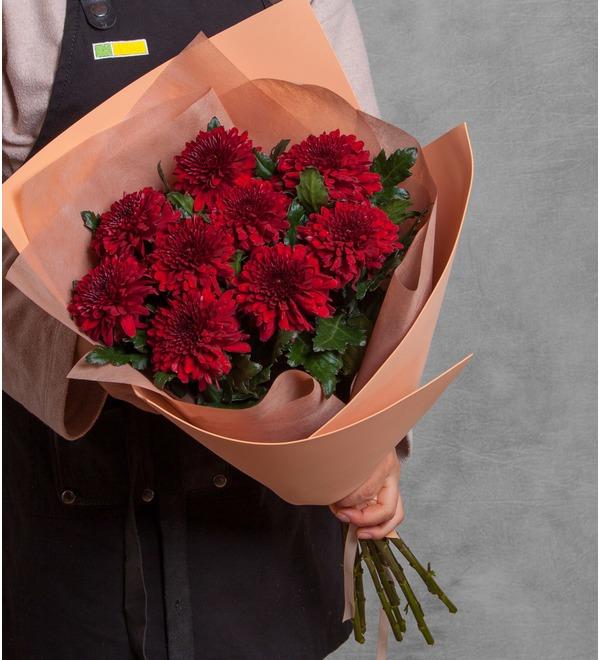 Букет хризантем Поцелуй (5, 9 или 15) – фото № 1