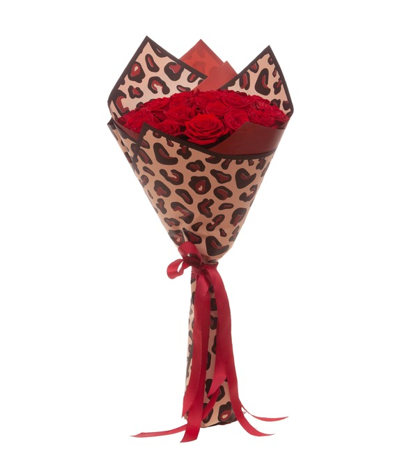 Букет-соло роз Гран При (15,25,35,51,75,101 или 151) – фото № 4