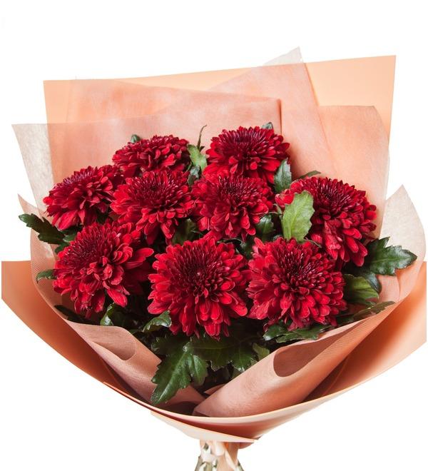 Букет хризантем Поцелуй (5, 9 или 15) – фото № 3