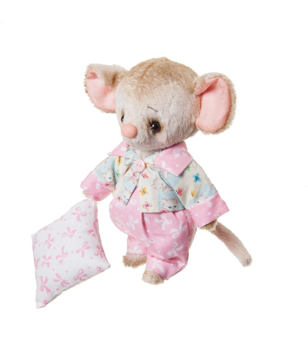 Handmade toy Mouse and Pillow (20 cm) – photo #2