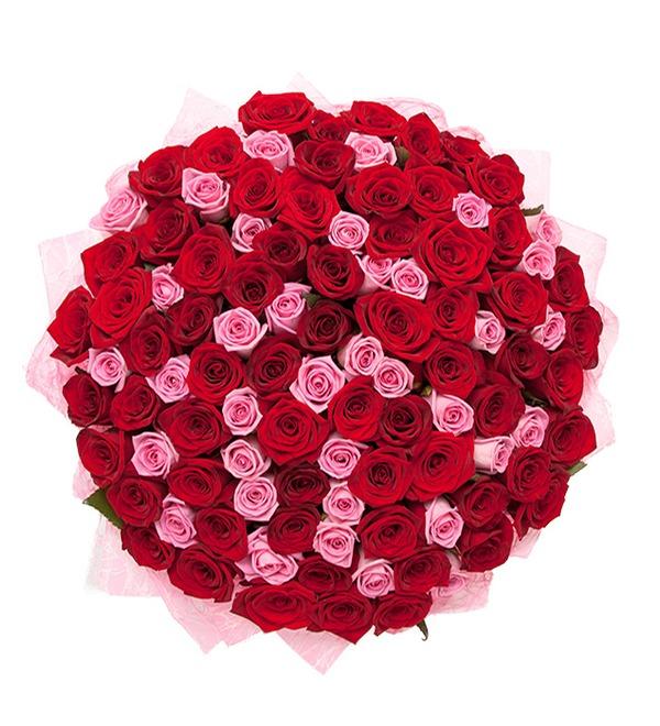 Букет из 101 розы Импровизация – фото № 3
