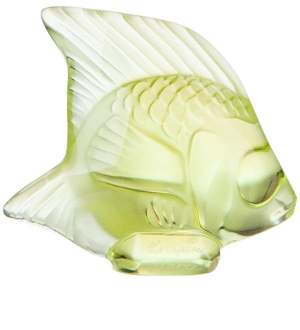Хрустальная статуэтка Рыбка (св-желтый) (LALIQUE, Франция) – фото № 2