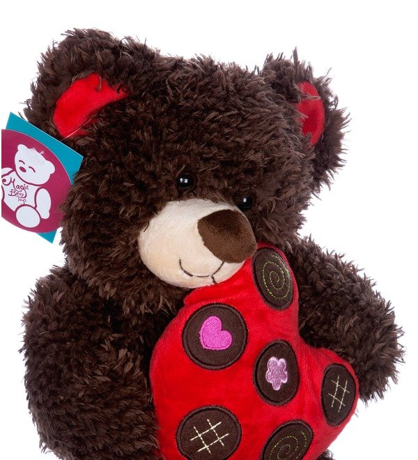 Toy Bear with heart (31 cm) – photo #4