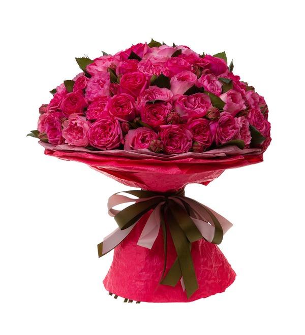 Букет-дуэт пионовидных роз Высокая нота (15,25,35,51,75 или 101) – фото № 4
