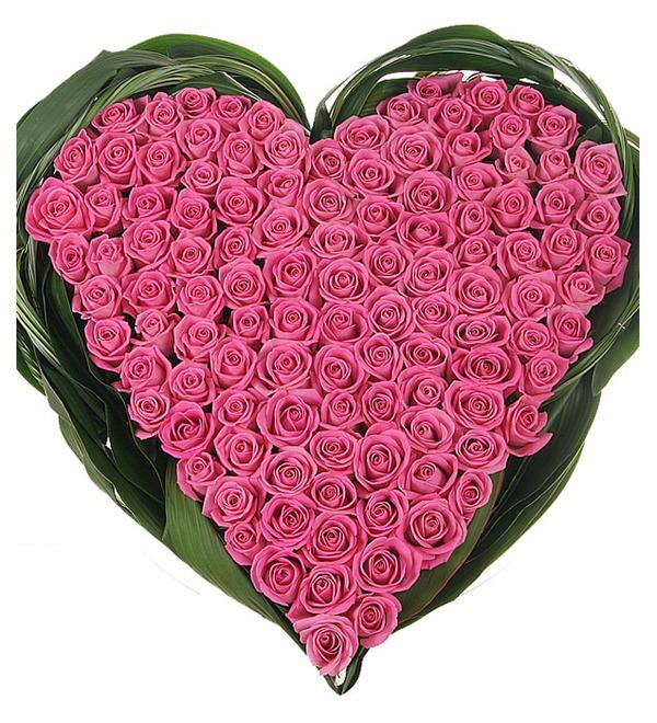 Композиция из роз Яркая любовь – фото № 2