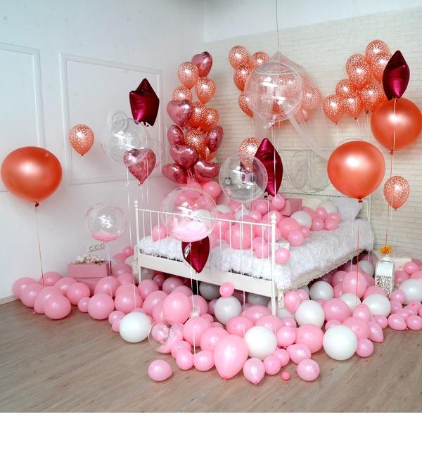 Оформление шарами в стиле Романтика! – фото № 1