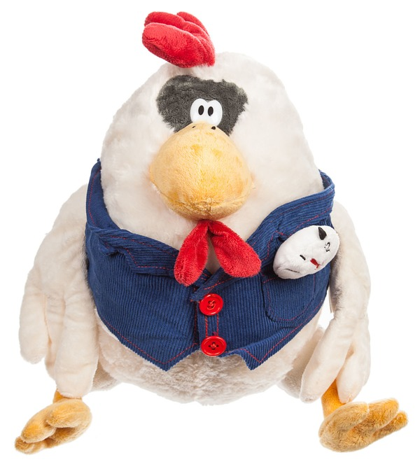 Stuffed toy Rooster Merchant (35 cm) – photo #1