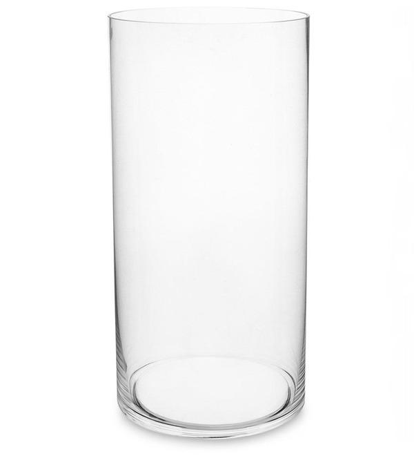 Ваза-цилиндр стеклянная (40 см) – фото № 1