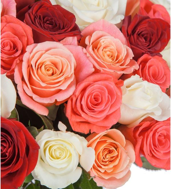 Букет Персиковое лето (25, 51, 101 роза) – фото № 3