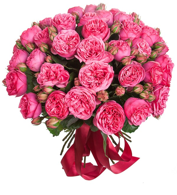 Bouquet of pion-shaped roses Pink Piano (15, 25 or 51) – photo #2