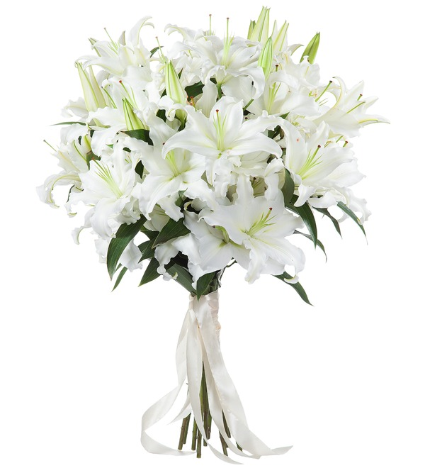 Bouquet of lilies – photo #1