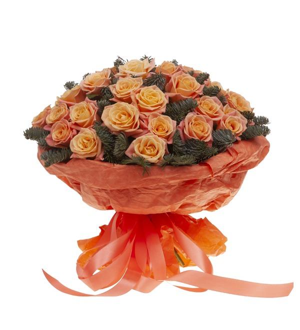 Букет-соло роз Мисс Пигги (15,25,35,51,75 или 101) – фото № 4