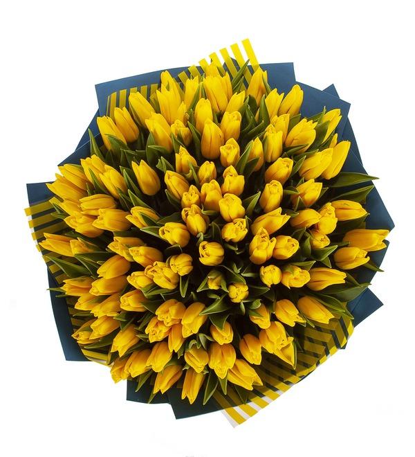 Букет-соло Тюльпаны Strong Gold (25,35,51,75 или 101) – фото № 3
