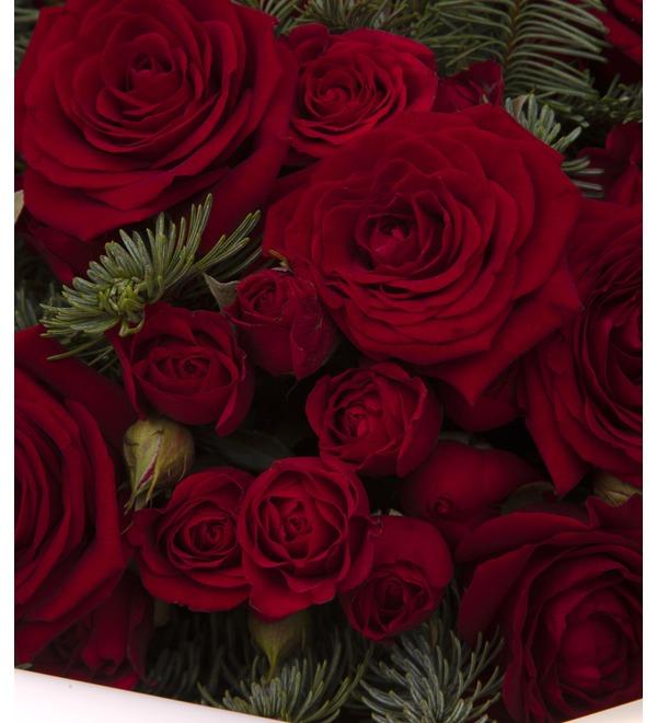 Букет-дуэт роз Мелодия сердца (15,25,35,51,75 или 101) – фото № 3