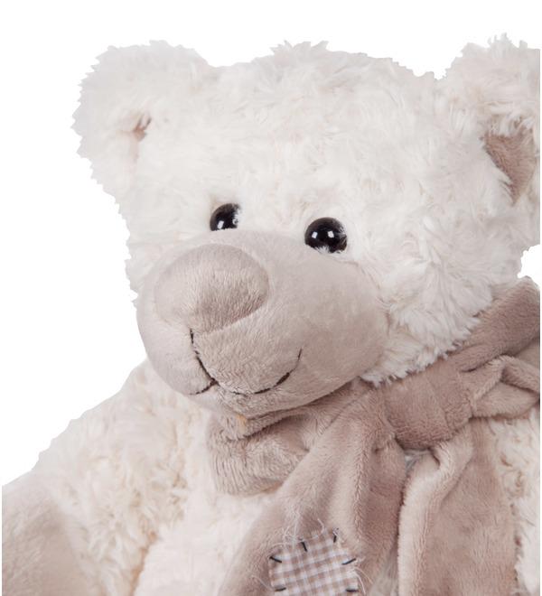 Мягкая игрушка Мишка Сэм в шарфе (25 см) – фото № 2
