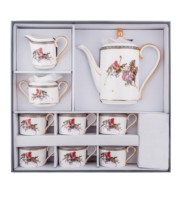 Чайный сервиз на 6 персон Восточное Поло (Pavone) – фото № 5