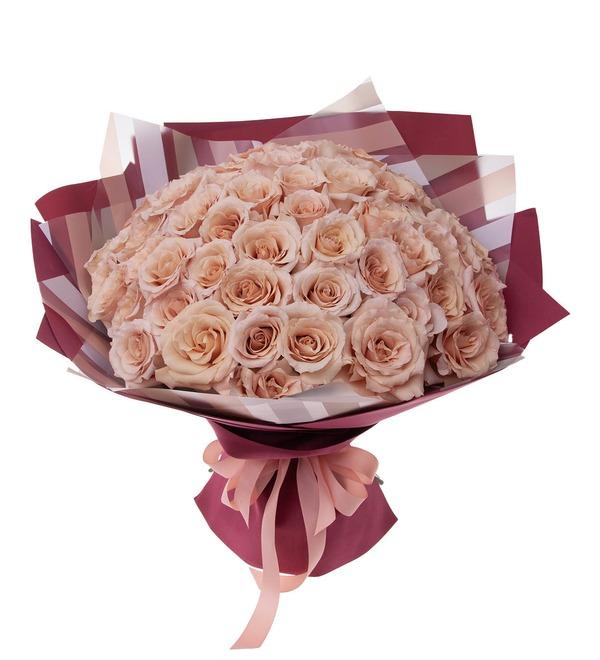 Букет-соло пионовидных роз Quicksand (9,15,25,35,51 или 75) – фото № 5