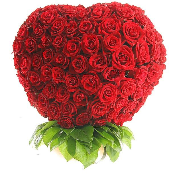 Композиция из 201 розы Мишень Купидона – фото № 2