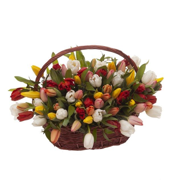 Композиция Яркие тюльпаны (51,101 или 201) – фото № 5