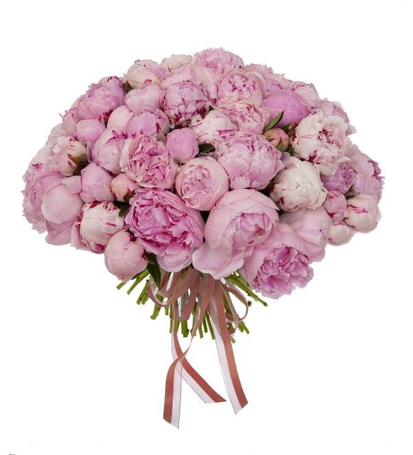 Букет-соло пионов Sarah Bernhardt (15,25,35,51,75 или 101) – фото № 5