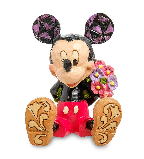 Figurine Mini Mickey Mouse with flowers (Disney) – photo #1