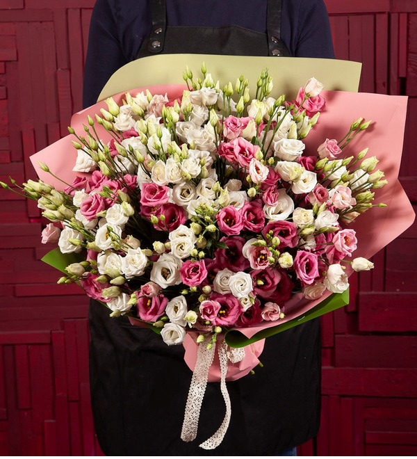 Bouquet-duet Eustoma (15,25,51 or 101) – photo #1