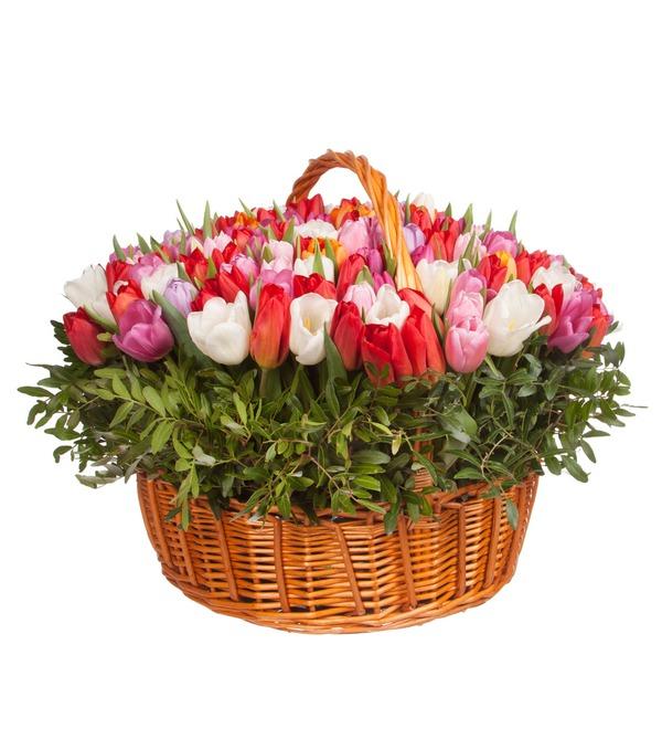 Композиция из тюльпанов Драгоценная моя... (51, 101 или 201) – фото № 4