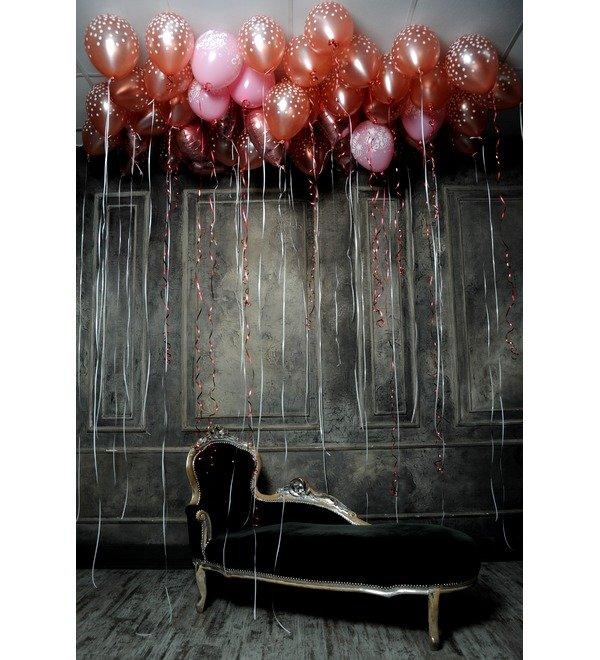 Оформление потолка воздушными шарами – фото № 1