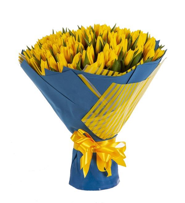 Букет-соло Тюльпаны Strong Gold (25,35,51,75 или 101) – фото № 4