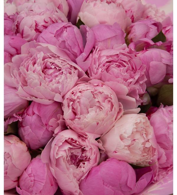 Букет-дуэт Розовые пионы (15,25,35,51,75,101 или 151) – фото № 3
