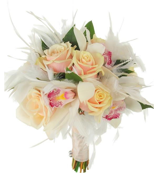Букет невесты Лебединая верность – фото № 3