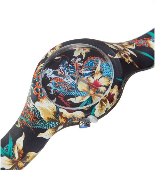 Часы Doodle Орхидеи и дракон – фото № 2