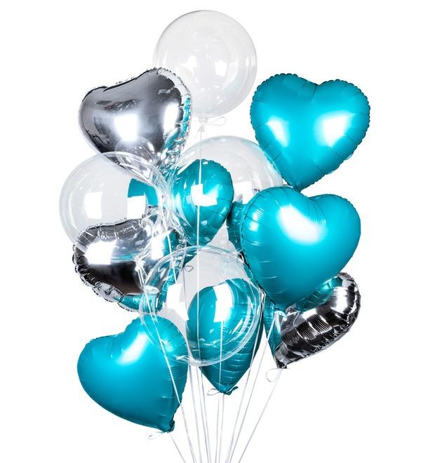 Букет шаров Романтика (14 или 29 шаров) – фото № 1