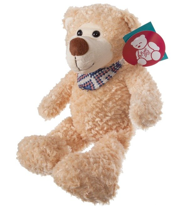 Soft toy Bear Theodore in a scarf (38 cm) – photo #3