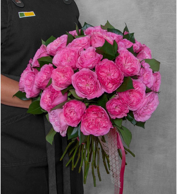 Bouquet of pion-shaped roses Maria Theresia (15, 25 or 51) – photo #1