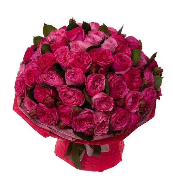 Букет-дуэт пионовидных роз Высокая нота (15,25,35,51,75 или 101) – фото № 5