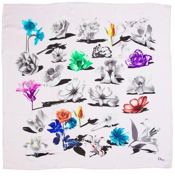 Шелковый платок Christian Dior (Италия, 50х50 см) – фото № 1