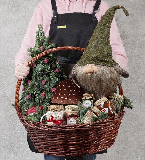 Подарочная корзина Подарки от гномика – фото № 1