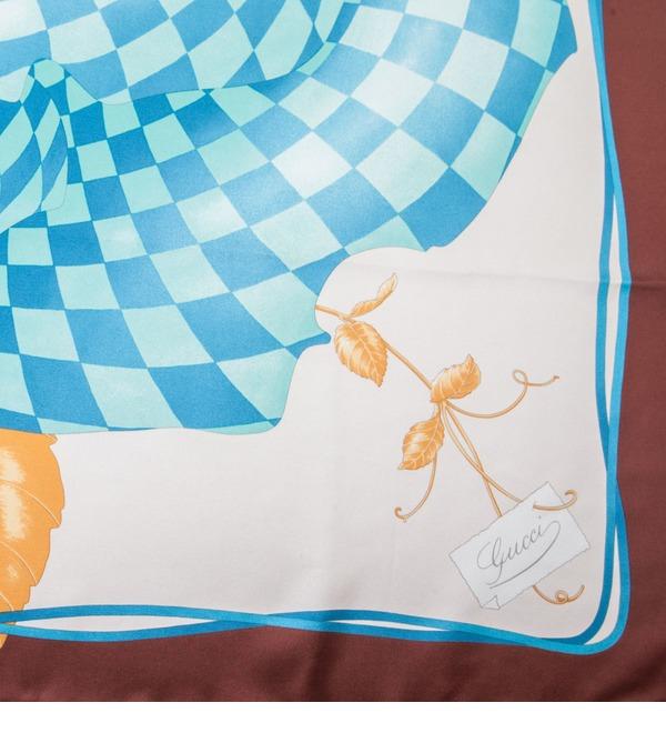 Шелковый платок GUCCI Королевская Роза (Италия, 90х90 см) – фото № 3