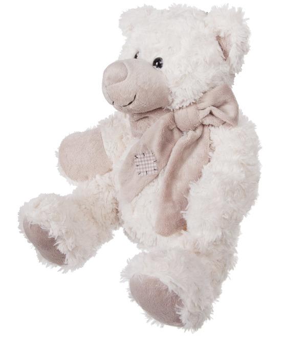 Мягкая игрушка Мишка Сэм в шарфе (25 см) – фото № 3