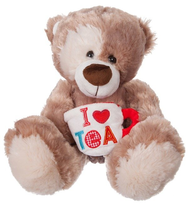 Soft toy Bear Zinovy with a mug (35 cm) – photo #1