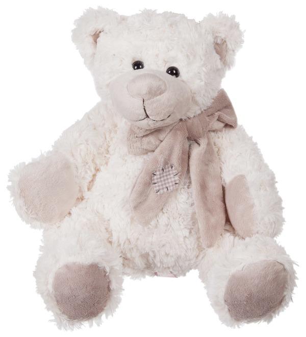 Мягкая игрушка Мишка Сэм в шарфе (25 см) – фото № 1